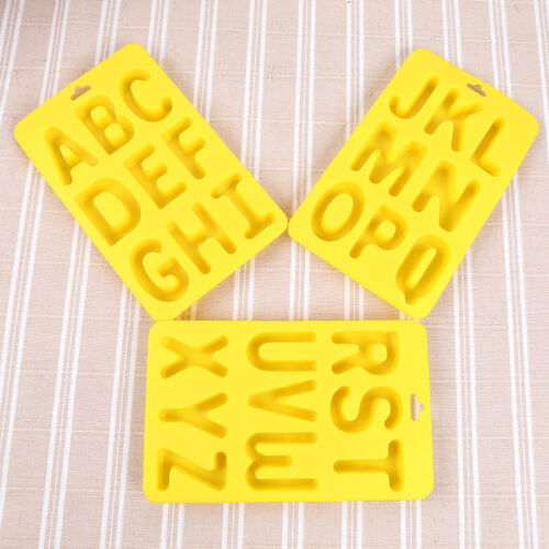 3Pcs Silicone Chocolate Molds Ice Cake Candy Moulds Baking Tool Letter Shape