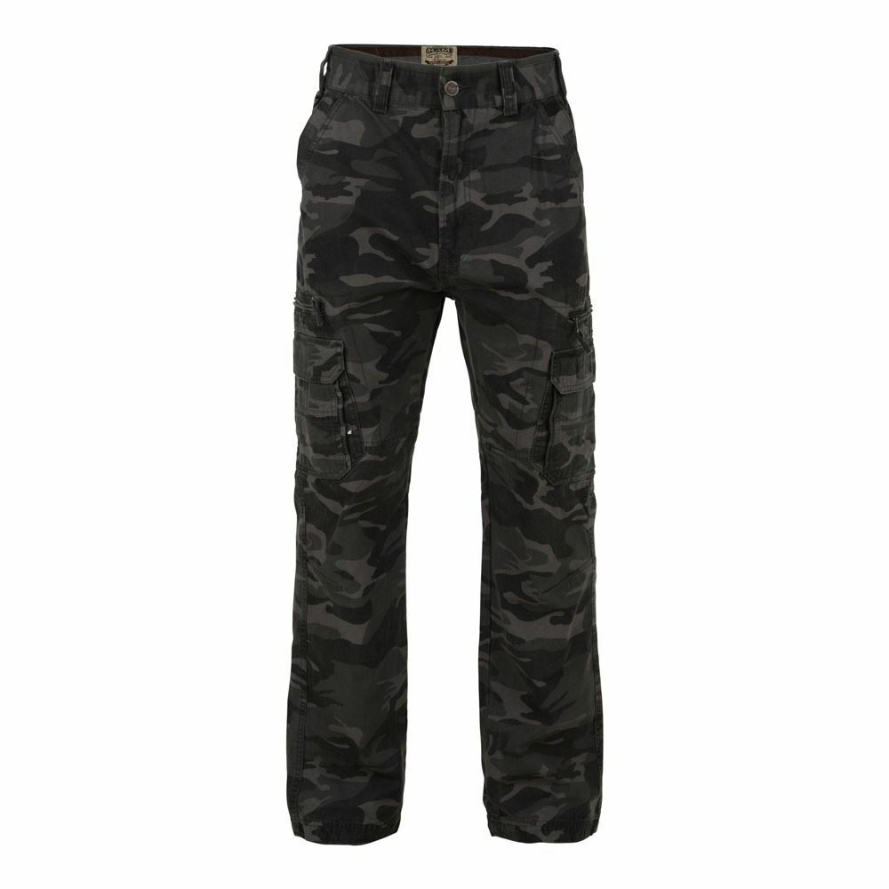 KAM Pure Cotton Camou Cargo Combat Trousers in Waist 30 to 40  L29 31 33