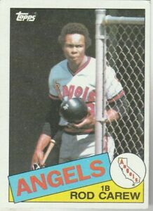FREE-SHIPPING-MINT-1985-Topps-300-Rod-Carew-Angels-PLUS-BONUS-CARDS
