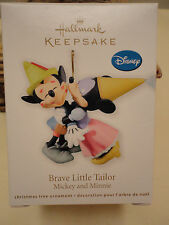 Hallmark Ornament BRAVE LITTLE TAILOR Disney MICKEY & MINNIE MOUSE and 2011 NEW