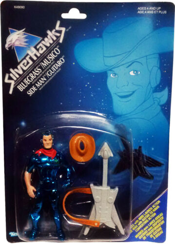 SilverHawks Bluegrass//SideMan Figure Vintage 1986 MOSC!! New Collectible