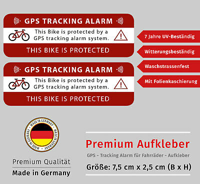 Anti Theft Safety Decal Bicycle GPS Tracking Stickers Bike Protection LM