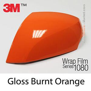 50x152cm film gloss burnt orange 3m 1080 g14 vinyl covering wrap top car ebay. Black Bedroom Furniture Sets. Home Design Ideas