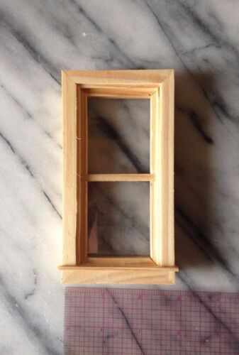 Traditional Non-Working Window Unfinished Wood 1:12 Scale