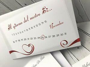 Ebay Partecipazioni Matrimonio.Partecipazioni Matrimonio Inviti Sposi Buonanno Nozze E001 Ebay