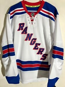 watch 4b70a 19b59 Details about Reebok Authentic NHL Jersey New York Rangers Team White sz 52