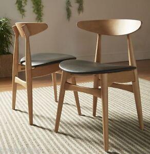2 Pc Norwegian Danish Side Chairs Dining Mid Century