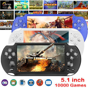 """X9S 5.1"""" 8GB 128Bit Portable Handheld Game Console Video Game W/ 1000+ Games US"""