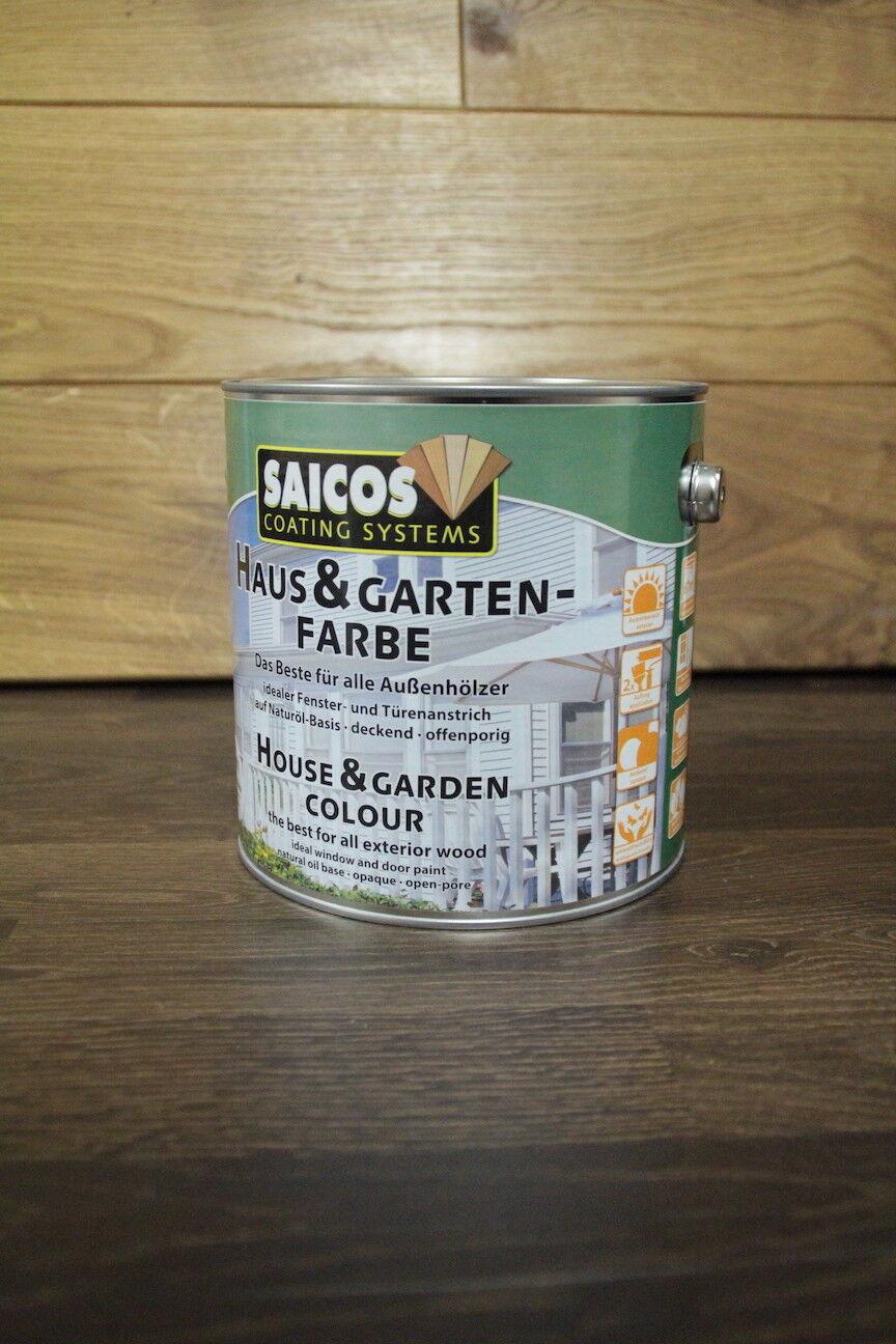 /L Saicos Haus & Gartenfarbe Garten-Farbe Weiß 2001 2,5 L Öl Premium Aktion