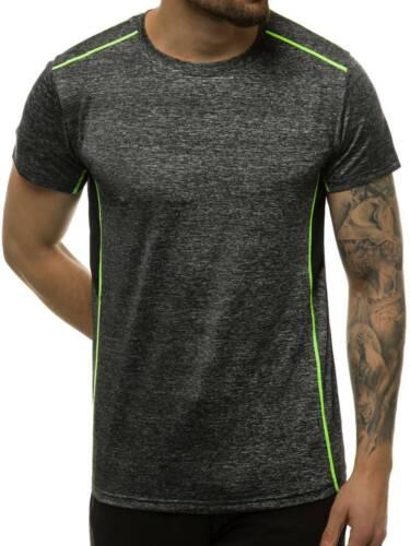 T-Shirt Kurzarm Shirt Motiv Rundhals Aufdruck Herren OZONEE JS//M18323