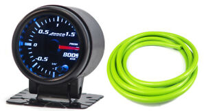 52mm-barra-de-calibre-2-034-Turbo-Boost-Sensor-Digital-pantalla-analogica-y-Verde-Manguera