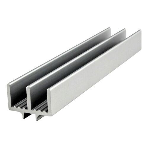 "80//20 Inc Aluminum Lower Door Slide Track Profile 10 Series #2221 x 48/"" Long N"