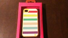 Kate Spade Iphone 4 Case Pastel Stripes Silicone
