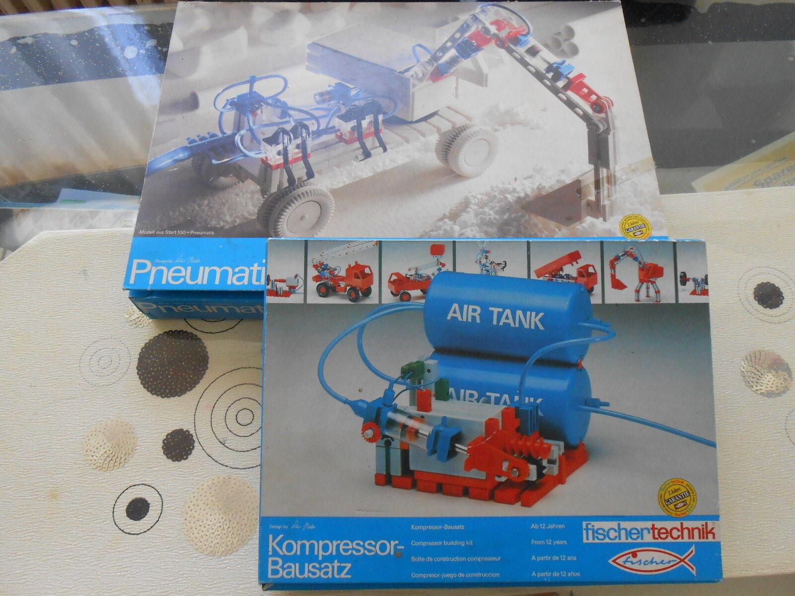 Fischertechnik Pneumatic with Compressor Kit both Original Boxed