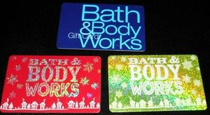 3 Collectible Gift Card Bath And Body Works Store Holiday