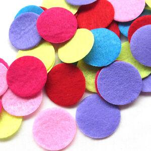 100Pcs Mix Round Felt Pads Fabric Flower & Brooch Back Non-woven Circles