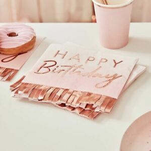 Happy-birthday-Napkins-Pink-Ombre-Rose-Gold-Frils-Party-Decorations-Milestone