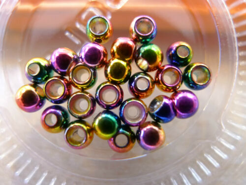 Messing Perlen Ø 3,8mm 13 Farben Auswahl 20 Stück Brass Beads Ø 3,8mm