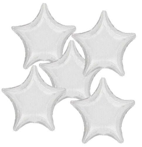 White Star Helio Globo de la hoja-Cumpleaños Boda Fiesta Decoración #20354