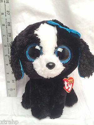 "NEW 2016 Tracey The Dog MEDIUM 8/"" Size Plush Beanie Boos Toy Doll TY"