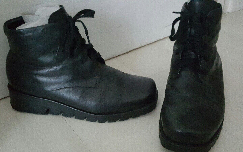 ECCO Damen Damen ECCO Schnür Leder Schuhe gr. 39 schwarz Lagenlook tadellos 6054c2