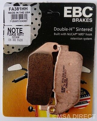EBC V Front Semi-Sintered Brake Pads For Harley Davidson 2007 XL1200R Sportster