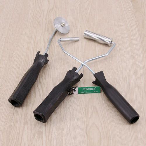UK 3Pcs//Set Aluminum Fiberglass Bubble Laminating Roller Tool Kit 50//74//48mm