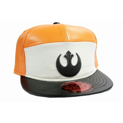 OFFICIAL STAR WARS REBEL ALLIANCE SYMBOL ORANGE AND WHITE PU SNAPBACK CAP HAT