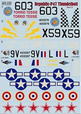 """Republic P-47 Thunderbolt, Part 2"" Print Scale 72-028, Decals 1/72"