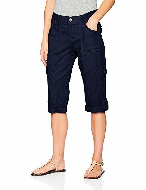 Lee Womens Collection Relaxed Fit Skye Knit Waist Cargo Capri Pant