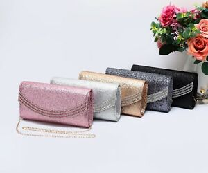 New UK Women/'s Glittery Diamond Style Clutch Party Bag Prom Bag//Wedding Bag