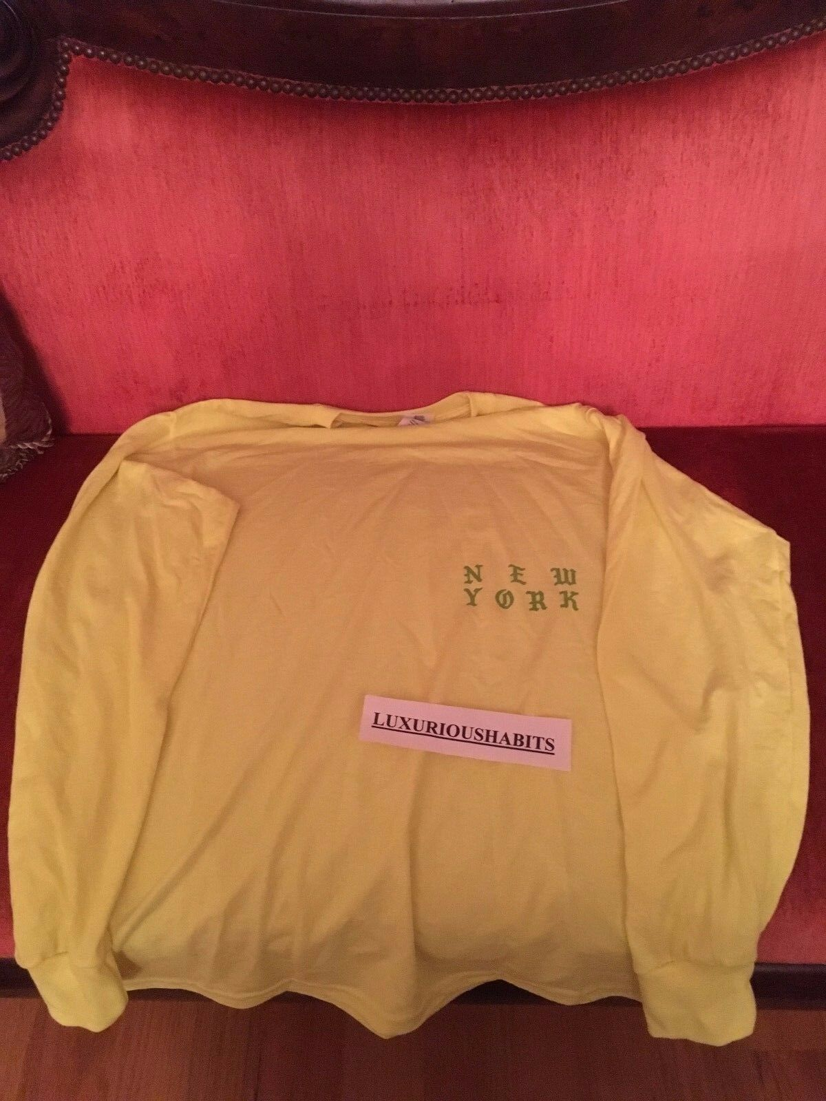 Größe M TLOP Kanye West Yeezy Meadows Festival Merch T-Shirt LIME Grün NEW YORK