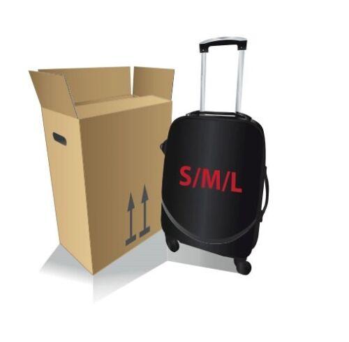 Kofferkarton Kartonage Verpackung zum Koffer Versand Koffer Gepäck S-M-L