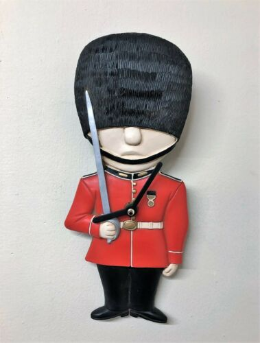 Red Great Britain Guardsman GB Royal Soldier Childrens Wall Clock 3208
