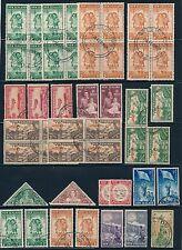 New Zealand 1935-45 SEMIPOSTAL BLOCKS & MORE; USED; CV $27