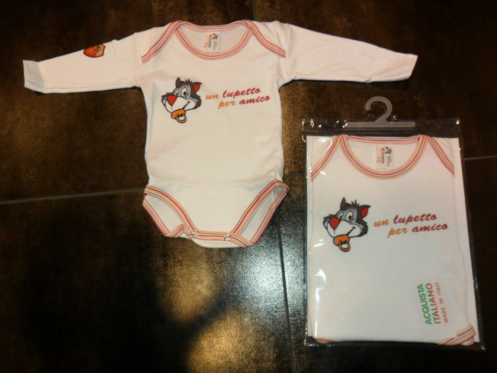 3345 ROMA BABY NEONATO BODY COTONE MANICA LUNGA LUNGA LUNGA INFANT OFFICIAL WEAR TUTINA A460  el mas reciente