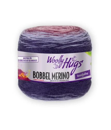 €14,95//100g Woolly Hugs Bobbel Merino 200g  Veronika Hug mit Anleitung Fb 103
