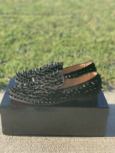 Men Spike Loafers Shoes with Red Bottom