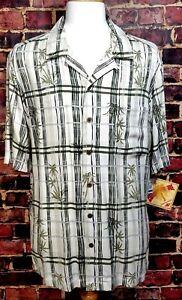 Caribbean-Joe-Short-Sleeve-Shirt-100-Rayon-Men-039-s-Size-XL-Hawaiian-Camp-NWT