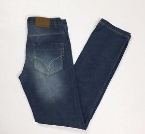 Sasch-jeans-slim-uomo-w30-tg-44-strappi-usati-usato-boyfriend-blu-denim-T2527