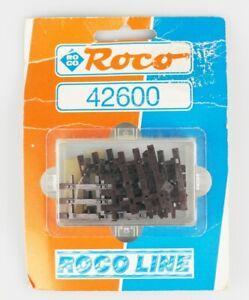 ROCO-LINE-Spur-H0-42600-Schwellenendstuecke-braun-fuer-Flexigleis-12-Stueck-OVP