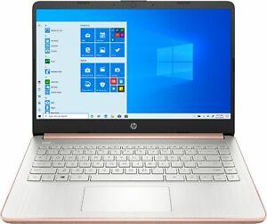 """HP - 14"""" Laptop - Intel Celeron - 4GB Memory - 64GB eMMC - Rose Gold"""