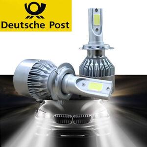 paar h7 auto led scheinwerfer birnen headlight leuchte lampen 6000k hi lo ebay. Black Bedroom Furniture Sets. Home Design Ideas