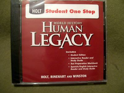 Holt Student One Stop World History Human Legacy CD ROM