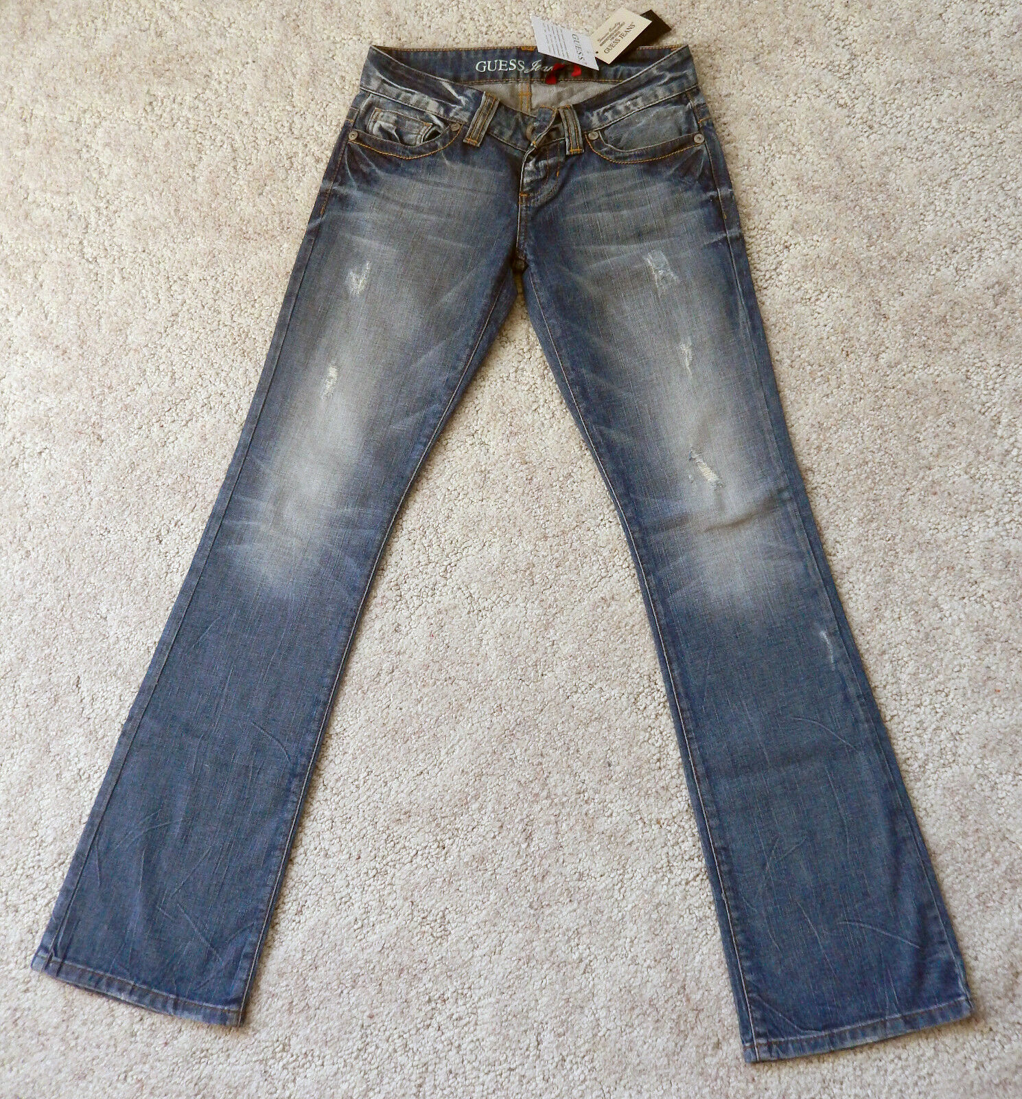 GUESS Denim Pants bluee Distressed Jeans Guess Los Angeles Bootcut 26 NWT