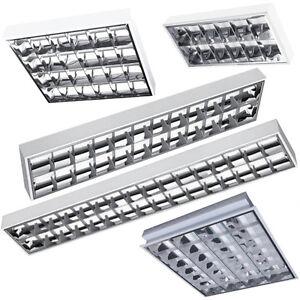 HIT-SET-Rasterleuchten-EVG-mit-ohne-Neonroehre-Neonlampe-T8-60cm-120cm-150cm