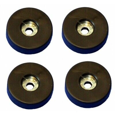 """3//4/"""" Tall Tapered Rubber Feet W// Steel Washer 1/"""" Diameter Various Pack Sizes"""
