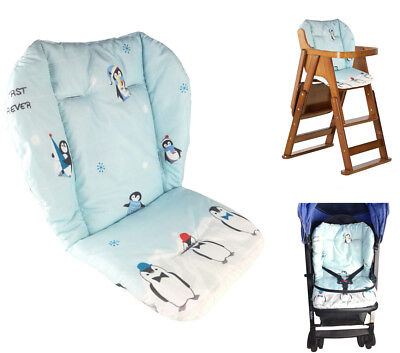 Baby Stroller/high Chair Seat Cushion Cover Breathable (penguin) Pretty And Colorful