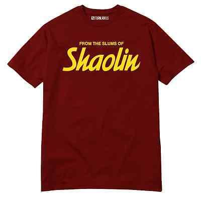 Shaolin Slums Wu Tang Clan Hip-Hop T-Shirt Classic Rap Supreme RZA GZA ODB GHOST