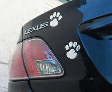 3D Chrome Cute Paws Car Decal Sticker Dog Footprint Puppy Claws Bumper Sticker